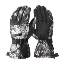 Winter Ski Gloves, Waterproof Snowboard 3M Thinsulate Warm Touchscreen Cold Weather Gloves Wrist Band, Fits Both Men & Women