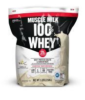 Muscle Milk 100% Whey Protein Powder, Vanilla, 25g Protein, 5 Pound
