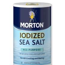 Morton All Purpose Sea Salt, Iodized, 26 Ounce (Pack of 12)