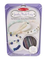 Melissa & Doug Jewelry Made Easy Semiprecious Stone Bead Bracelet-Making Set (Great Gift for Girls and Boys - Best for 8, 9, 10, 11, 12 Year Olds and Up)