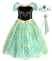 AmzBarley Costume for Girls Halloween Princess Cosplay Dress Up Role Play Outfits