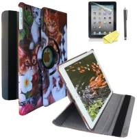 """Ipad Case for iPad 9.7"""" 2018/2017 Release Also Fit for iPad Air 1st 2013 Release Models A1893 A1954 A1822 A1823 A1747 A1475 Support Wake/Sleep Function with Stylus (Cat Design)"""