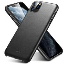 """ESR Premium Real Leather Case Compatible with iPhone 11 Pro - Slim Full Leather Phone Case [Supports Wireless Charging] [Scratch-Resistant] Protective Case for iPhone 11 Pro 5.8"""" 2019 - Black"""
