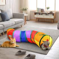 Cat Tunnel with Play Ball, Interactive Peek-a-Boo Cat Chute Cat Tube Toy, Camouflage S-Tunnel for Indoor Cat, Best for Puppy, Kitty, Kitten, Rabbit