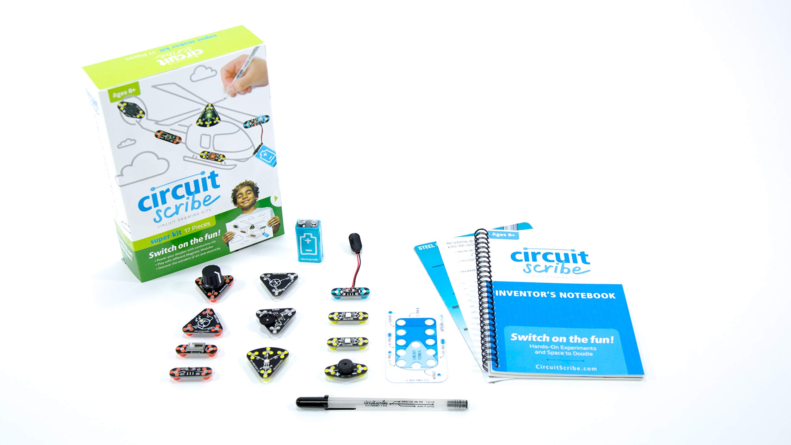 Circuit Scribe Super Kit: Draw Circuits Instantly – Includes Conductive Silver Ink Pen, and Everything You Need to Learn, Explore, and Create Your Own Circuits and Switches!