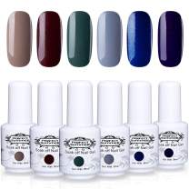Perfect Summer Gel Nail Polish - 6 Colors Gel Nail Varnish Soak Off UV LED Manicure Home Gel Manicure System 8ML 177