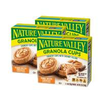 Nature Valley Peak Edition Granola Cups, Peanut Butter, 5 Pouches, 1.2 oz