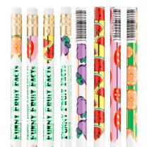 Funny Fruit Facts Pencils -50 per Pack