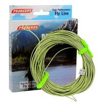 PROBEROS Fly Fishing Line - Weight Forward Enhanced Welded Loop Floating Fly Line - Green Yellow Orange Blue 100FT 2F-8F