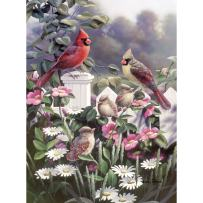 Bits and Pieces - 500 Piece Jigsaw Puzzle -Cardinals and Babies - Beautiful Birds - by Artist Bradley Jackson - 500 pc Jigsaw