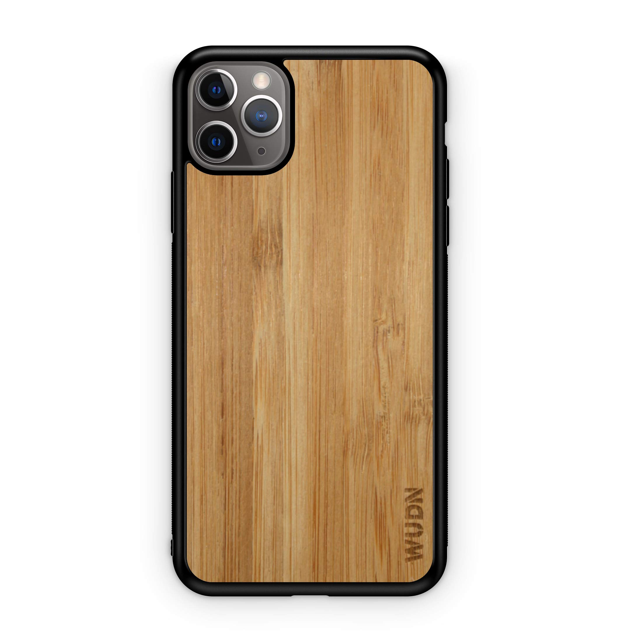 WUDN - Real Wooden Phone Case in Carmalized Bamboo, Compatible with iPhone 11 Pro Max, 6.5