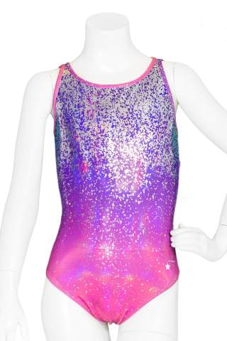 Gymnastics leotards for girls long sleeve cake pink blue off-white 7//8 year old