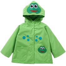 DINIRUKY Waterproof Rainwear Windbreaker Hooded Raincoat Cute Long Sleeve Outwear Jacket for Boys and Girls