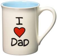 "Our Name is Mud ""I Heart Dad"" Stoneware Mug, 16 oz."