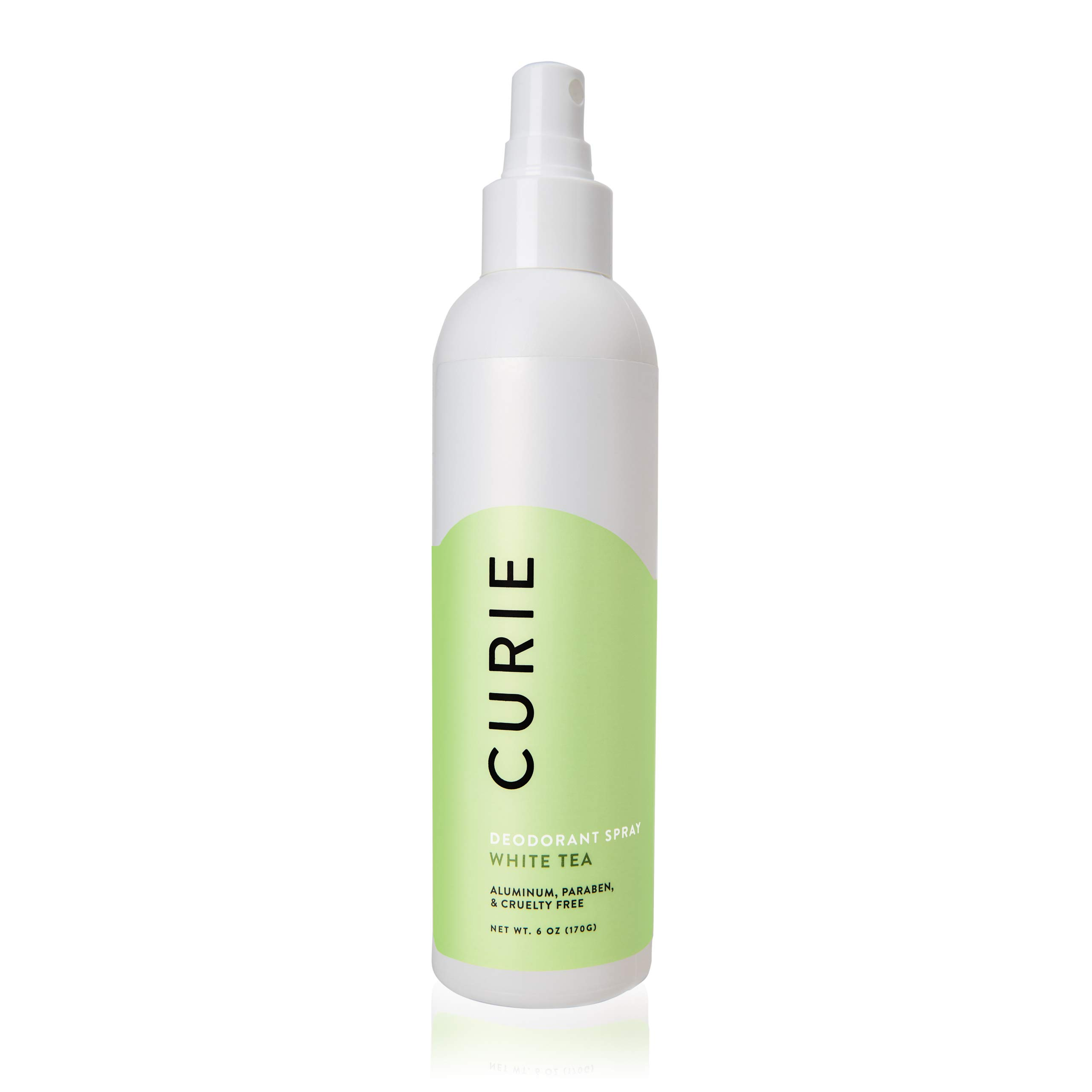 Curie All-Natural Deodorant Spray for Men and Women | Baking Soda-Free | White Tea
