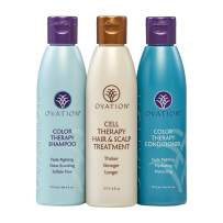 Ovation Color Protection Cell Therapy System - Get Stronger & Healthier Looking Hair with Natural Ingredients - Includes Cell Therapy and Color Treatment Shampoo & Conditioner - Made in the USA