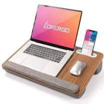 LORYERGO Laptop Lap Desk - Laptop Desk for Lap with Cushion & Wrist Rest, Fits up to 17 Inches Laptop, Lap Desk for Bed & Couch, Portable Lap Desk with Slot for Tablet & Cellphone - LELD09