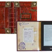 Kindle Paperwhite Case with Harry Potter Themed Foldback Book Cover (New History of Magic)