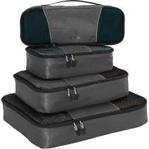 eBags Classic Packing Cubes for Travel - 4pc Classic Plus Set - (Titanium)