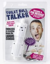 OUR FRIENDLY FOREST Recordable Talking Toilet Paper Spindle - Makes Your Toilet Paper Talk - Funny Bathroom Gag Gifts - Record up to 10 secs of Audio - Fun White Elephant Gifts - Hilarious Prank