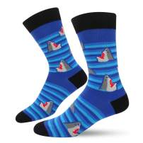 SOCKFUN Novelty Funny Crazy Shark Whale Narwhal Crew Socks for Men