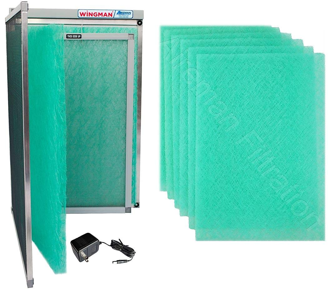 Wingman1 Electronic Air Filter Including Year Supply of Replacement Pads - Homeowner Installed- Simply Replace Your Current AC Furnace Air Filter and PLUG IT IN! (12x24x1)