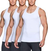 TSLA 1 or 3 Pack Men's Athletic Compression Sleeveless Tank Top, Cool Dry Sports Running Basketball Workout Base Layer