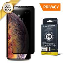 GPEL Privacy Screen Protector for iPhone Xs Max/iPhone 11 Pro Max Compatible Real Tempered Glass [Privacy Anti Spy] Case-Friendly Work with Most Case HD Clarity 9H Hardness 99% Touch Accurate