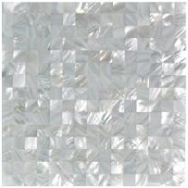 Art3d Mother of Pearl White Mini Square Mosaic Tiles Seamless Splice 10 Sq Ft