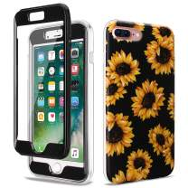 GOLINK Full Body Shockproof Protective Case with Built-in Screen Protector for 5.5 inch iPhone 7 Plus and iPhone 8 Plus(Sunflower)