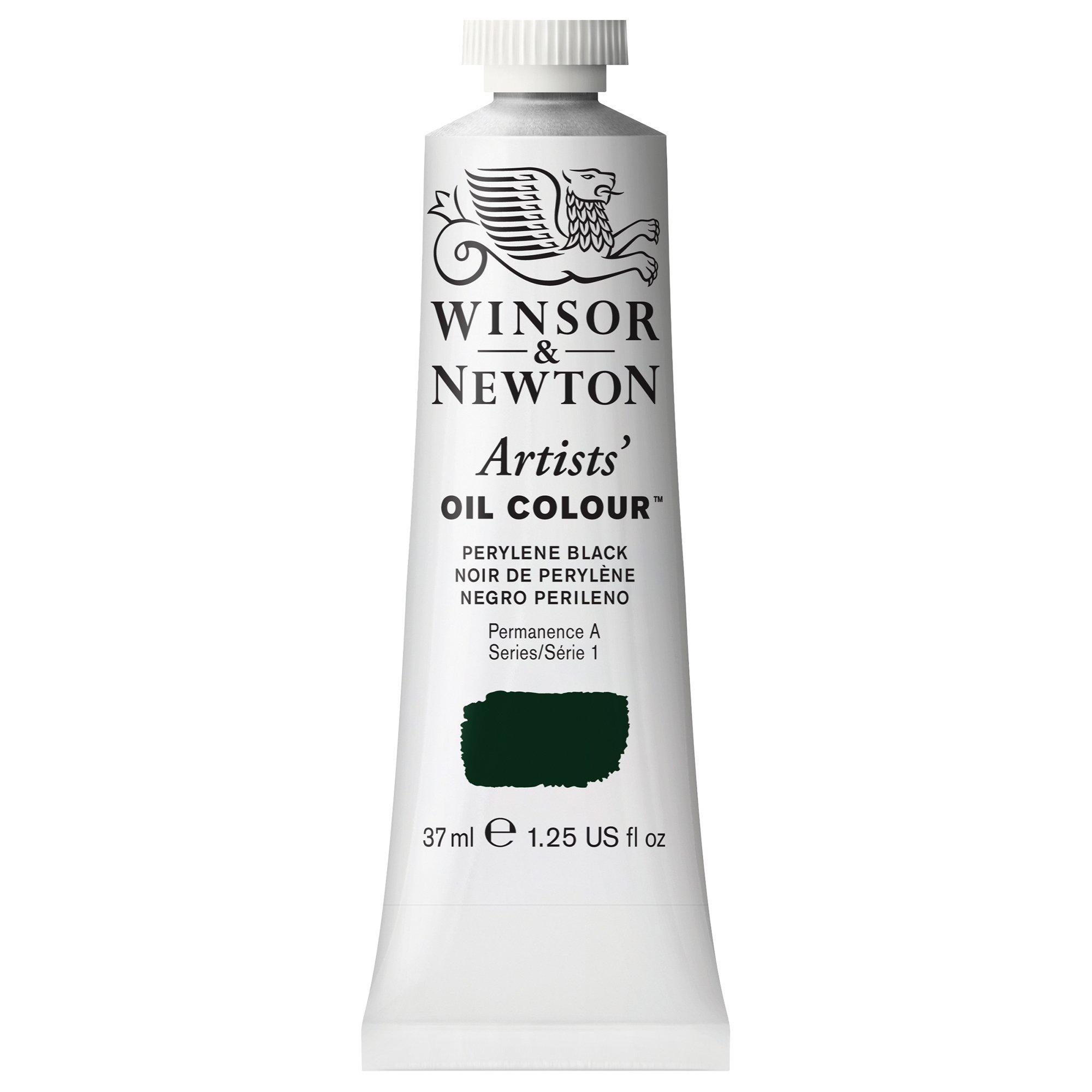Winsor & Newton Artists' Oil Colour Paint, 37ml Tube, Perylene Black