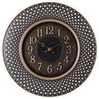 Pacific Bay Warendorf Large Decorative Light-Weight 16-inch Wall Clock Silent, Non-Ticking, 3-D Aluminum Dial, Easy-to-Read, Quartz Battery Operated, Glass Face Cover