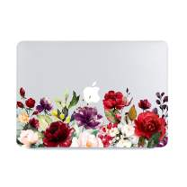 Lapac MacBook Air 13 Inch Clear Case 2019 2018 Release A1932, Soft Touch Hard Shell Case & Retina Display Fits Touch ID with Keyboard Cover (Water Color Flower(A1932))