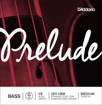 D'Addario Prelude Bass Single G String, 1/8 Scale, Medium Tension