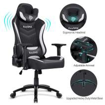 EasySMX Big and Tall Gaming Chair Racing Office Computer Game Chair Ergonomic Backrest and Seat Height Adjustment Recliner Swivel Rocker with Headrest and Waist Tilting Electronic Sports Chair 350lbs