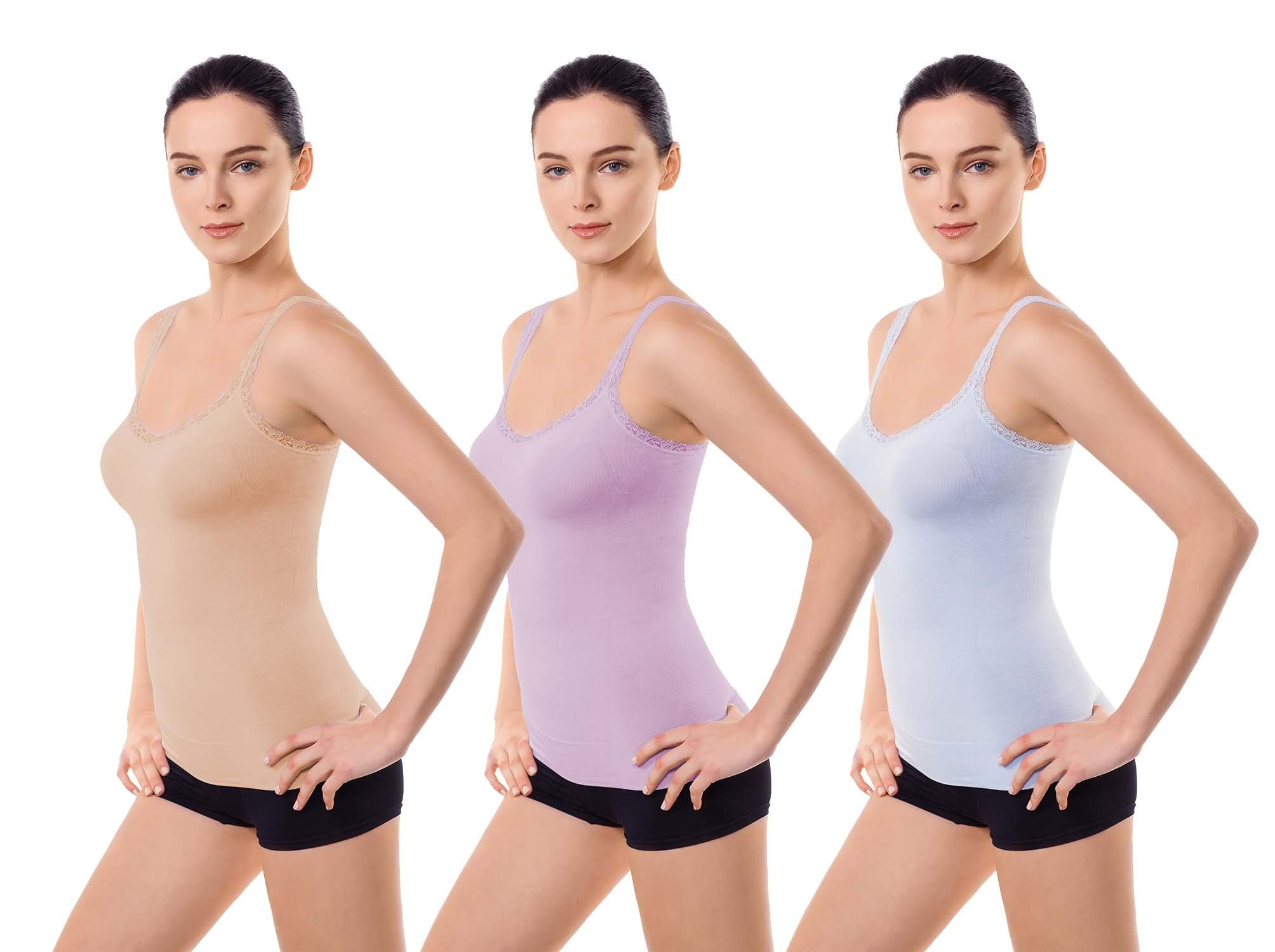MD Women Slimming Cami Tank Top Seamless Light Control Shapewear Camisole with Adjustable Strap