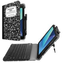 Fintie Keyboard Case for Samsung Galaxy Tab S3 9.7, Premium PU Leather Stand Cover with S Pen Protective Holder Detachable Wireless Bluetooth Keyboard for Tab S3 9.7(SM-T820/T825/T827), Composition