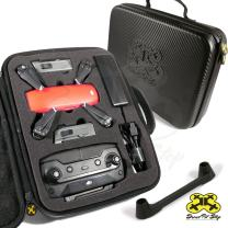 Drone Pit Stop Carrying Case for DJI Spark - Slots for Extra Battery, Charger and Transmitter. Splash-Proof | Durable | Compact | EVA Material - Maximum Protection Included (Small)