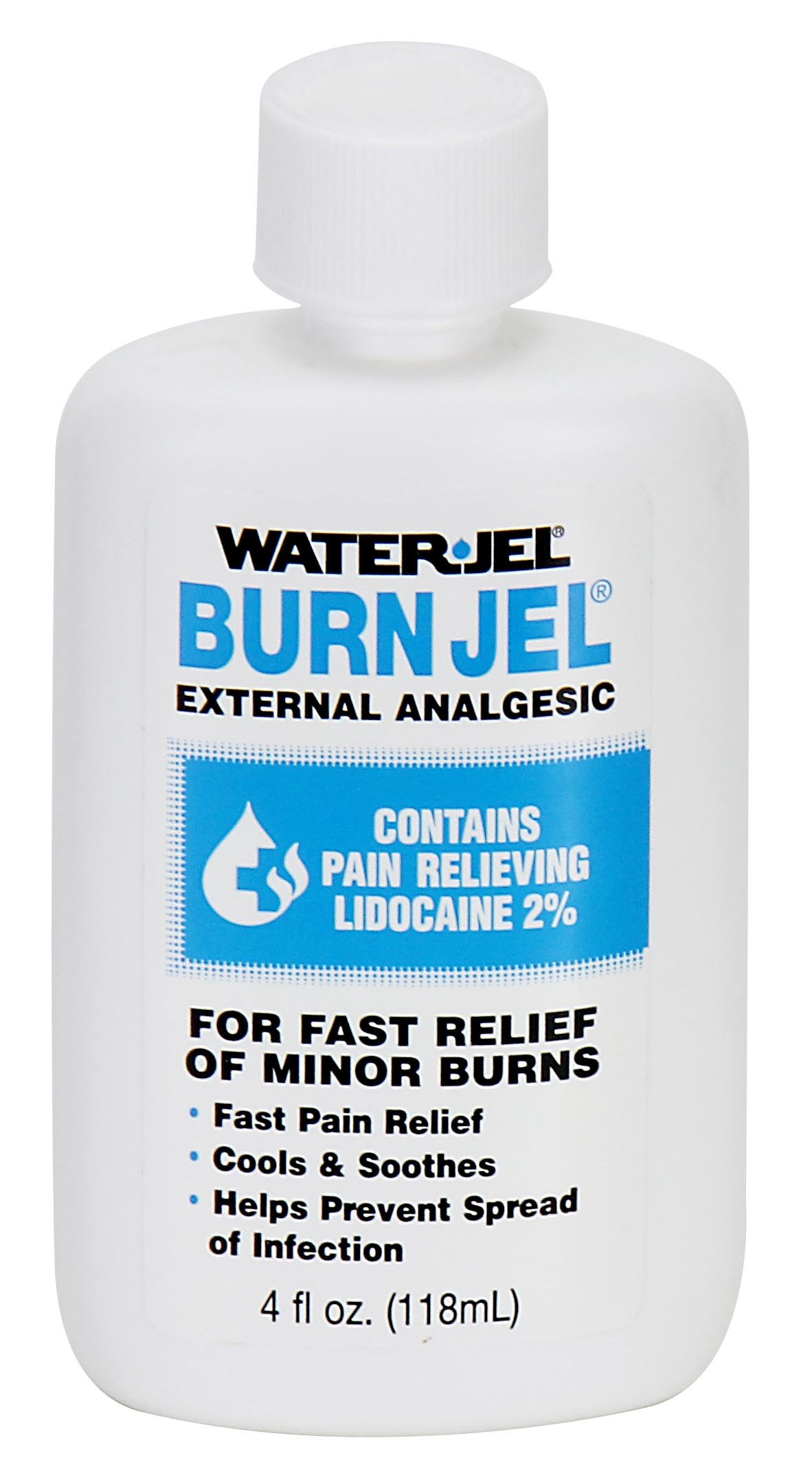 First Aid Only BJ4-01 Water Jel Burn Jel, 4 oz Squeeze Bottle