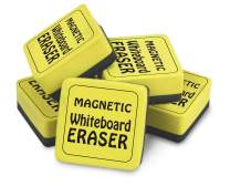 "The Pencil Grip TPG355 Magnetic Whiteboard Eraser, 2"" x 2"", Yellow, Yellow/Black"