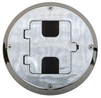 Bryant Electric RF515CH Floor Box Kit, Chrome
