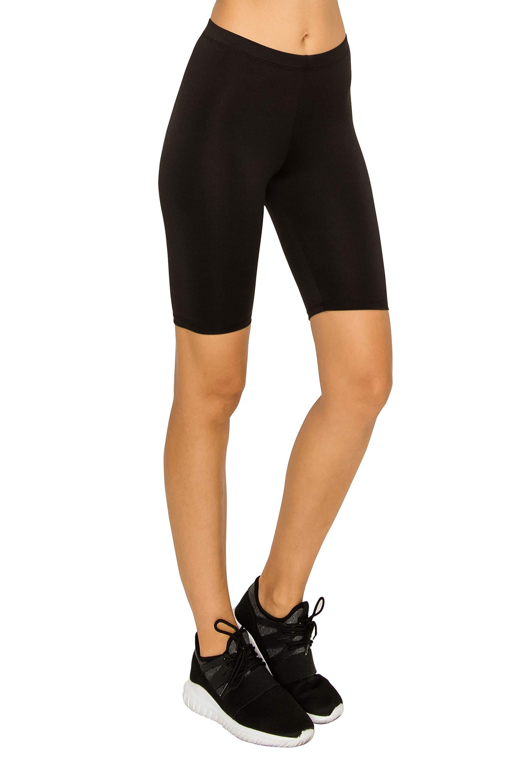 EttelLut Athletic Spandex Volleyball Booty Shorts-Yoga Running Biker Gym Sport Workout