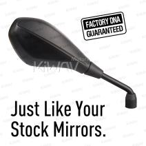 KiWAV Motorcycle OEM Replacement Mirror Black FB-277-5 compatible with BMW R1200GS Right Hand x 1