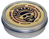Honey House Naturals Bee Manly Beard Balm – Masculine Mint Scent – 1.5 ounce Round Travel Size Tin – All Natural Ultra Moisturizing Beard Balm Infused with Essential Oils and Butters