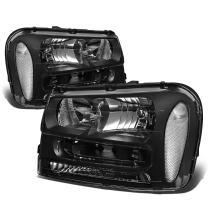 DNA Motoring Black clear HL-OH-TRA02-BK-CL1 Headlight Assembly (Driver & Passenger Side)