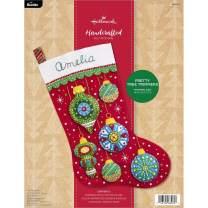 Bucilla Felt Stocking Kit, Pretty Tree Trimmers