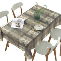 DUOFIRE Vinyl Tablecloth Rectangle Heavy Weight Table Cover Wipe Clean Waterproof (54 x 86.6 Inch, Color-no.017)