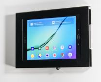 """TABcare Locking Anti-Theft Metal Case for Samsung Galaxy TAB 9.6"""" 9.7"""" 10.1"""" 10.5"""" Tablet for Kiosk, POS, Store, Show Display, Time Clock (TAB A 10.1 w S-Pen SM-P580, Black)"""