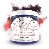 Red Reishi Mushroom Powder | 8:1 Extract | 60 Grams | Ganoderma lucidum | Organic Whole Fruiting Body Mushroom Extract | Supports a Healthy Immune System