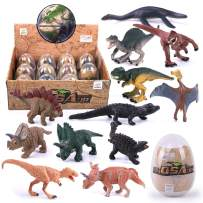REMOKING 3D Dinosaur Easter Eggs Play Set-STEM Educational Toys -Dinosaur for Party Favor, Easter Eggs Hunt, Basket Stuffers Fillers, Classroom Prize Supplies 12 Pcs,Top Dinosaur Gift Set